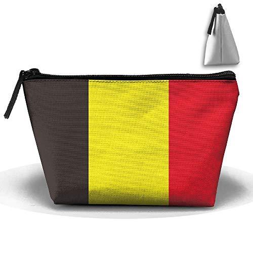 Drapeau Belgique Portable Maquillage Sac de Rangement Sac de Rangement de Grande Capacité Sac de Voyage à Main