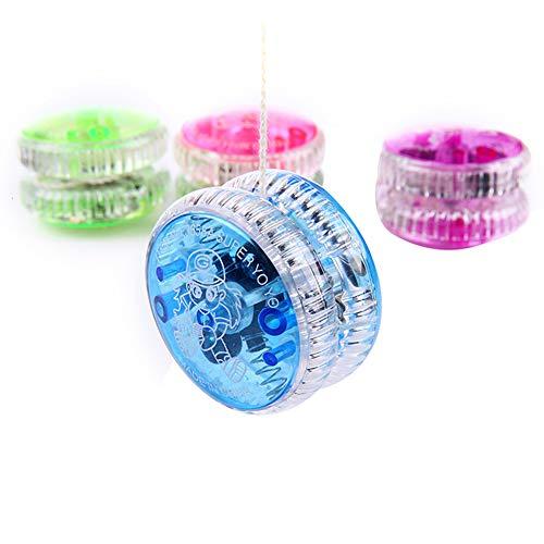 LED Light Up Yo Yo Yoyo for Kids Beginner Yoyo for Kids Responsive Ball Bearing Yoyo 4 Pack