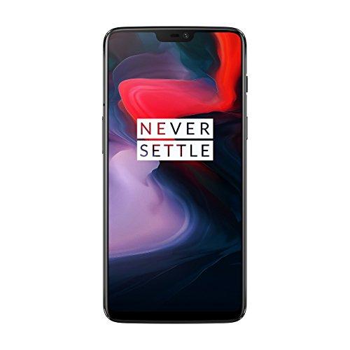 Pack OnePlus 6 Smartphone débloqué 4G (Ecran : 6,28 pouces - 8 Go RAM - 128 Go stockage - Double SIM - Android) Midnight Black + Ecouteurs OnePlus Bullets V2