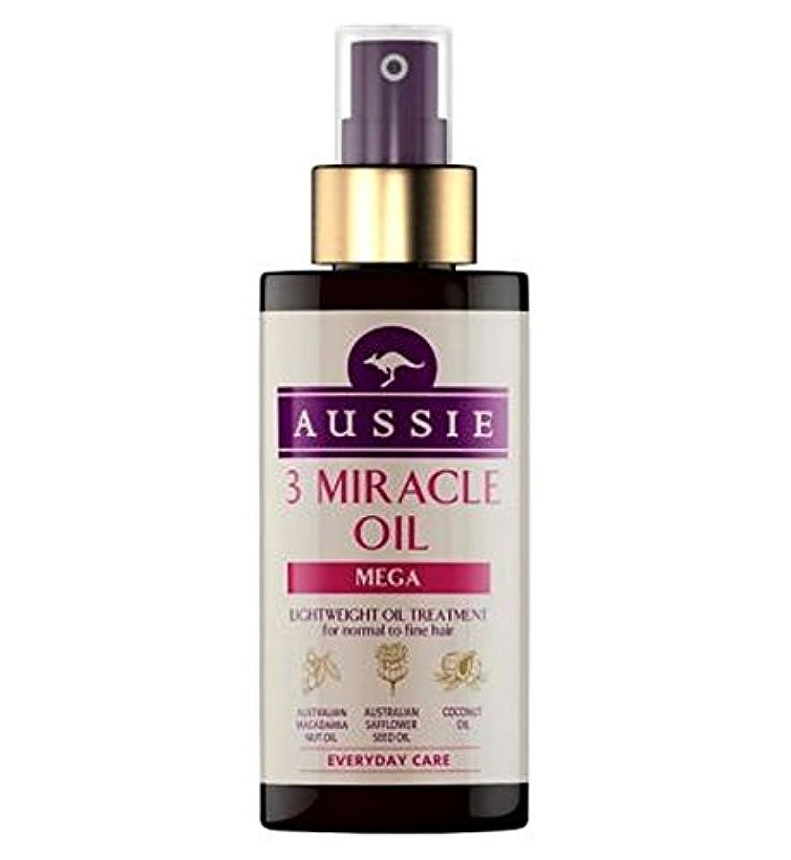 血色の良い店主暴力的な細い髪の100ミリリットルに、通常のためのオージー3奇跡のオイルメガ (Aussie) (x2) - Aussie 3 Miracle Oil Mega for Normal to Fine Hair 100ml (Pack of 2) [並行輸入品]