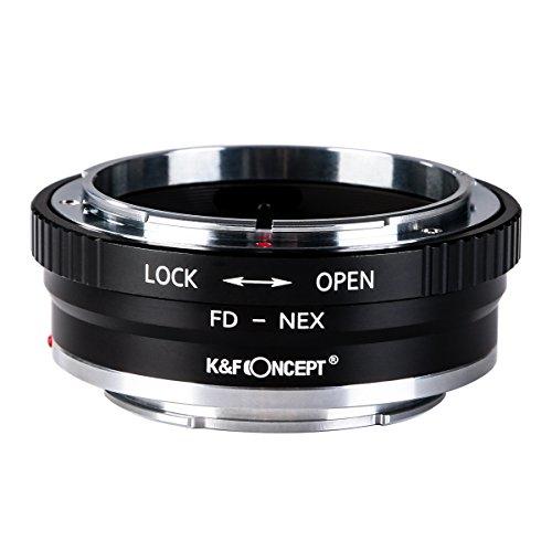 K&F Concept レンズマウントアダプター KF-FDE2 (キャノンFDマウントレンズ → ソニーEマウント変換)絞りリング付き