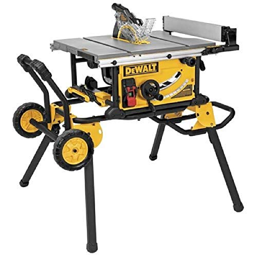 DEWALT 10-Inch portable table saw for fine woodworking Rip Capacity