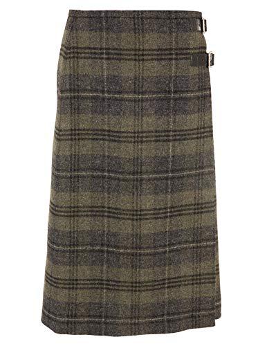 Celtic & Co Womens Scottish Made Tartan Tweed Long Kilt Skirt - Cairngorm Heath - Size 16