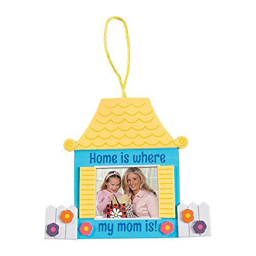 Home Is Where My Mom Is Picture Frame Craft Kit -Makes 12 - DIY Mother's Day Craft Gifts for Kids