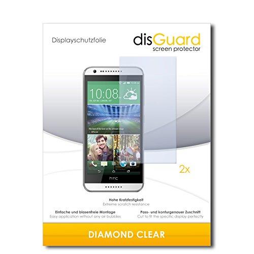 disGuard 2 x Bildschirmschutzfolie HTC Desire 620 Schutzfolie Folie DiamondClear unsichtbar
