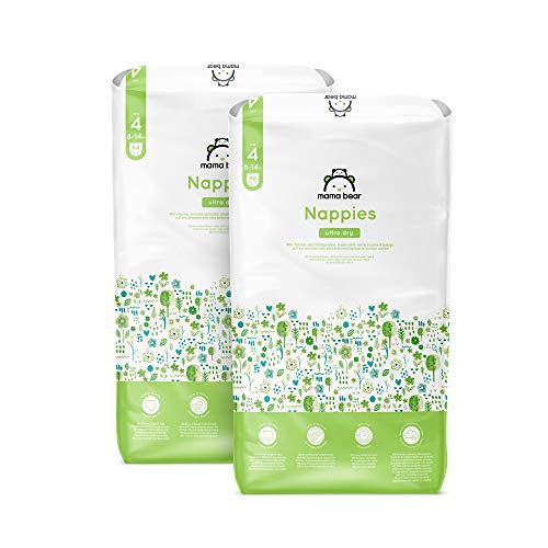Amazon-Marke: Mama Bear - 168 Ultra-Dry Windeln - Größe 4 (8-14 kg) - Neue Version