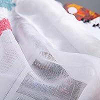 寝室のための家のための刺繍が付いている印刷のカーテンの短いカーテン(Red and Blue Wheat Ears)