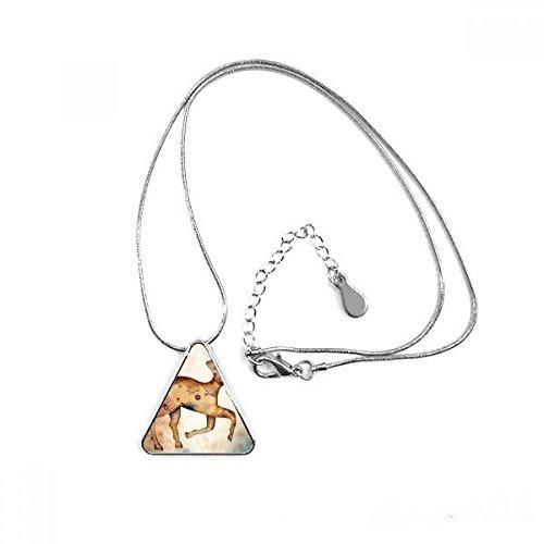 DIYthinker De Marzo de Abril de constelación de Aries símbolo del triángulo Forma Colgante Collar Joyas con Cadena decoración Regalo