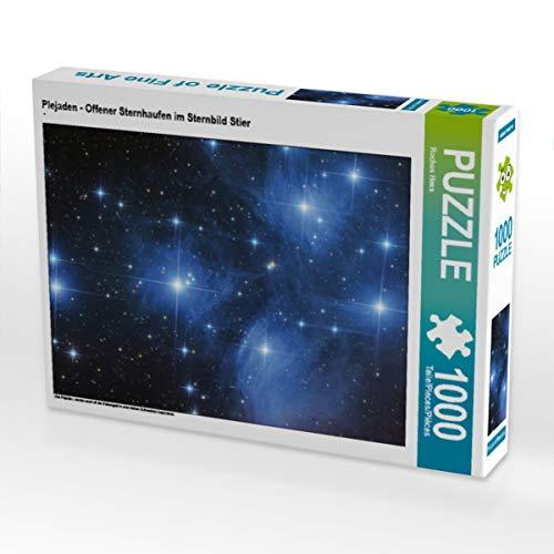 CALVENDO Puzzle Plejaden - Offener Sternhaufen im Sternbild Stier 1000 Teile Lege-Größe 64 x 48 cm Foto-Puzzle Bild von Rochus Hess