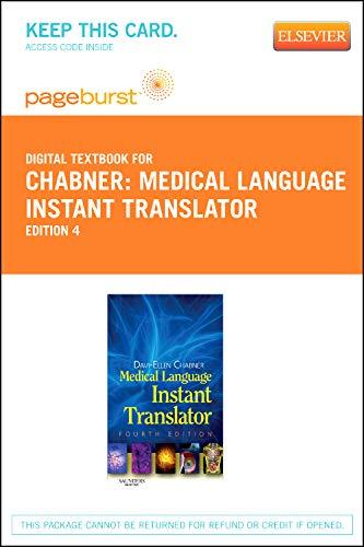 Medical Language Instant Translator - Elsevier eBook on VitalSource (Retail Access Card)