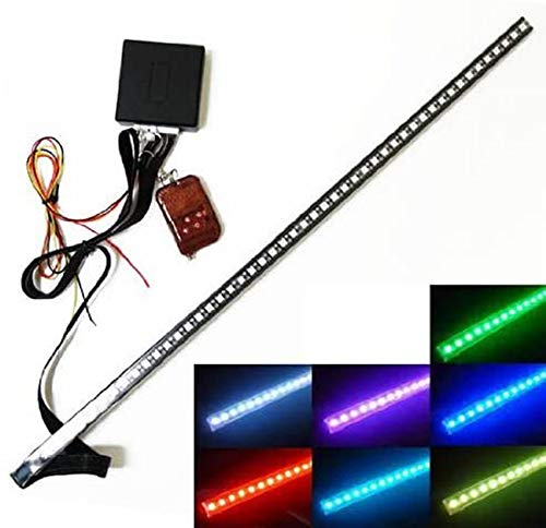 iJDMTOY 20 inches 48-LED RGB LED Knight Rider Scanner Lighting Bar Compatible With Car Interior or Exterior Decoration