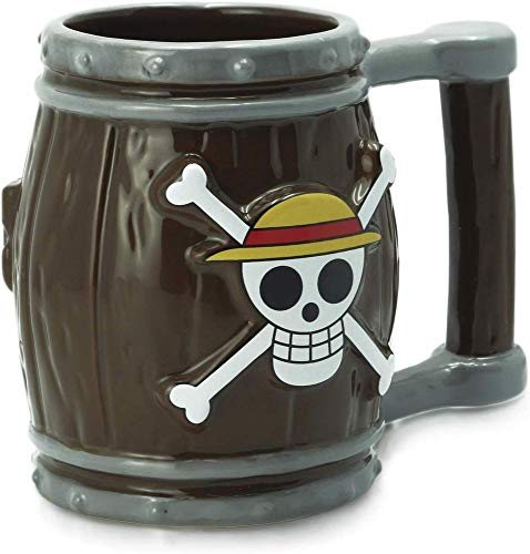 One Piece - Strohhut-Piratenbande Fass - Tasse - Original Merchandise