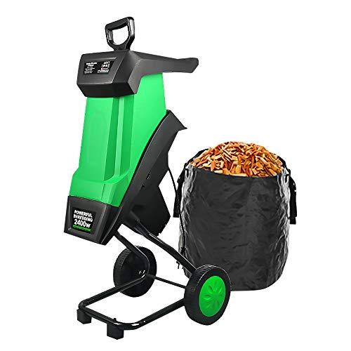 Refaa Trituradora trituradora de Madera eléctrica, trituradora de Alta Potencia, trituradora de Ramas de árbol eléctrica para jardín, 2500 W, 4050 RPM