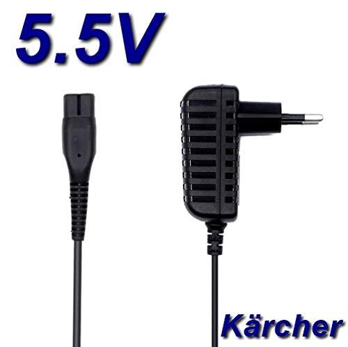 Top-oplader, netadapter, oplader, 5,5 V, voor elektrische bezem Kärcher KB5