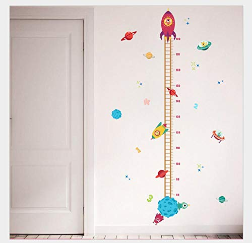 Wall Stickers Removable Planet Height Stickers Kindergarten Environment Layout Murals Removable Wall Stickers 30*90Cm