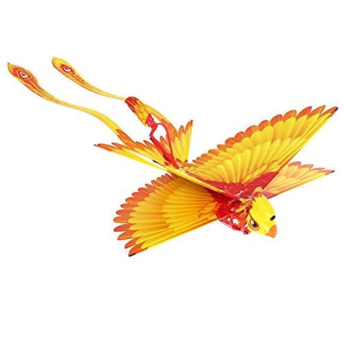 ELKeyko Smart Bionic Flapping Wings Volando pájaros for niños Adultos Control Remoto Volando Juguete Mini RC Helicóptero Drone-Tech Toys (Color : Yellow)