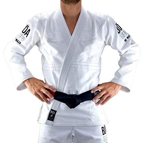 BOA–Kimono de Judo Ne-Waza Conjunto de Tenues de Combate Hombre, Hombre, Color Blanco, tamaño A3 (L)