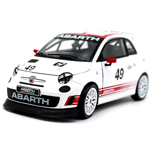 TZSMCMX Objets de Collection-Abarth 500 Assetto Corse 49 Racing - Mini Voiture - Simulé Voiture en Alliage, Proportion d'origine Copie, modèle Die Castings