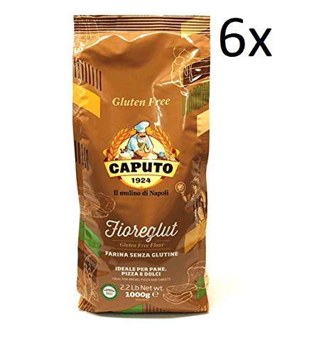 6x Antico Molino Caputo Mehl Farina senza glutine Fioreglut Glutenfrei 1Kg