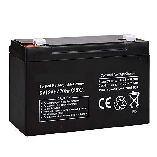 ROZIN Batería 6V 12AH 6V 12AH para Luz De Emergencia LED De Energía De Reserva Niños Juguete Coche Acumulador De Plomo-Ácido