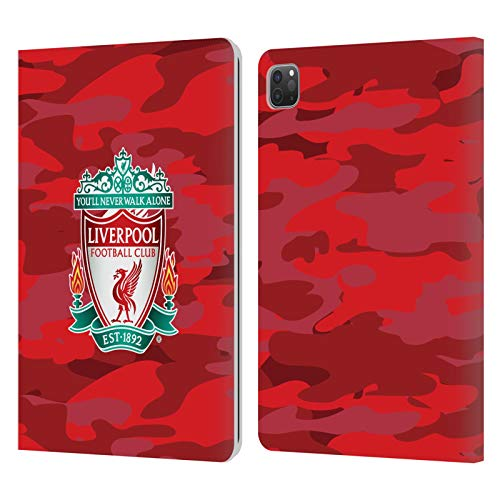 Head Case Designs Officially Licensed Liverpool Football Club Home Colourways Crest Camou Leather Book Wallet Case Cover Compatible With Apple iPad Pro 11 (2020)