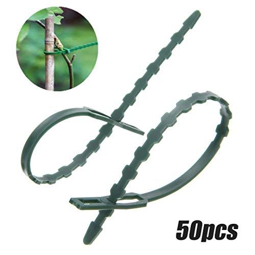 SPLLEADER Lot de 100 serre-câbles réutilisables en plastique pour jardin, ligaments végétaux
