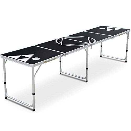 biggroup Heavy Duty 8FT Vouwen Ping-Pong Tafel Outdoor Keuken Camping Picknick Tafel Barbecue Banket Party Tuin Tafel