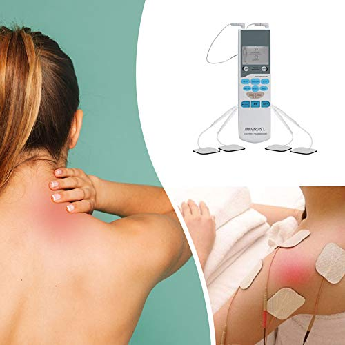 Tens Unit Electronic Pulse Massager for Muscle Stiffness, Soreness, Chronic Pain & Stress - Handheld Tens Machine Muscle Stimulator Nerves & Muscles Through Electrodes