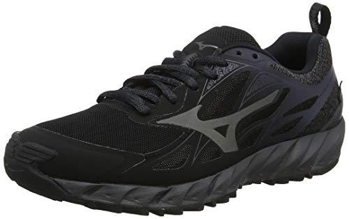 Mizuno Wave Ibuki GTX, Zapatillas de Running para Asfalto Mujer, Imán Negro Metálico de Sombra 49, 38.5 EU