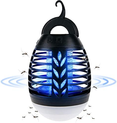 Waczecr Amping Lampe Outdoor LED Mückenlampe USB 2-In-1 Insektenvernichter Elektrisch Wiederaufladbar Moskito Lampe Mit 3 Beleuchtungsmodi Moskito Schutz Lampe Für Freien (Size : 21)
