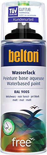 belton free Wasserlack RAL 9005 tiefschwarz, seidenglänzend, 400 ml - Geruchsneutral