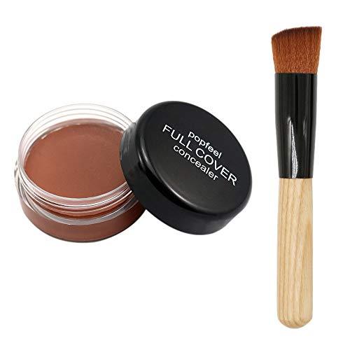 Make-up Foundation Make-up Basiscreme Nude Make-up flüssiger Concealer Concealer + Pinsel