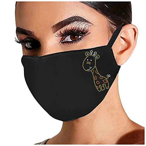Selinora Bling Rhinestone Face Cloth Mask,Drill Reusable Washable Face Covering Outdoor Sports Youth Girl Women Lady