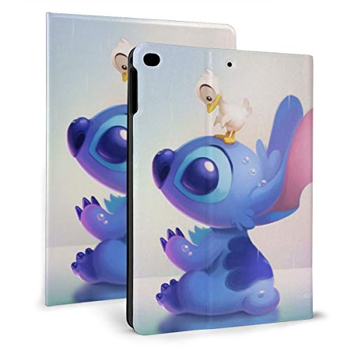 Lilo Stitch Duck Day PAD 9.7 Case For 2018 2017 / PAD Air 1/2 Cover Auto Wake/Sleep For Apple PAD 9.7 Inch 6th / 5th Pu Leather Shell Stand Smart Slim.