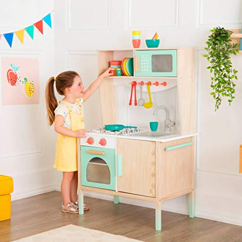 B. Toys- Mini Chef Kitchenette- Wooden Play Kitchen - Pretend Play and Imaginative Play for Kids 2 Years + (33 Pieces )