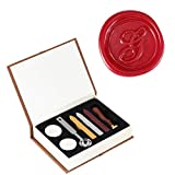 Wax Seal Stamp Kit, Yoption Vintage Initial Letters Alphabet Sealing Stamp Set (G)