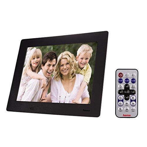 Hama 95250 Slimline Premium Digitaler Bilderrahmen (24,6 cm (9,7 Zoll), SD/SDHC/MMC-Kartenslot, mini-USB 2.0) schwarz