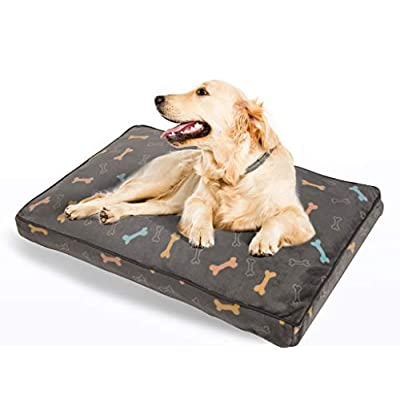 Amazon - Save 50%: Allisandro Dog Bed | Super Soft 36 Inch Long Dog Crate Beds | Removable S…