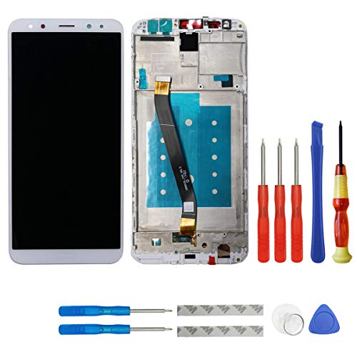 swark - Pantalla LCD compatible con Huawei Mate 10 Lite RNE-L01 RNE-L21 RNE-L23 pantalla táctil digitalizador de cristal + marco + herramientas