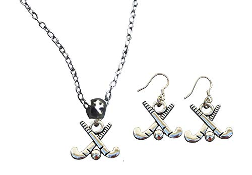 Collection Infinity Field Hockey Charm Halskette und Ohrringe Geschenkset Feldhockey Schmuck für Mädchen Feldhockeyspieler, Mütter und Trainer