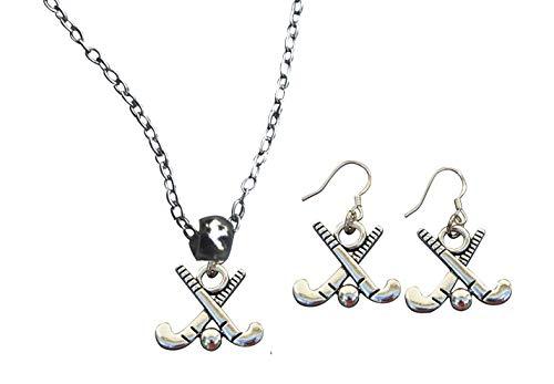 Infinity Collection Feldhockey-Anhänger Halskette & Ohrringe Geschenk-Set, Feldhockey-Schmuck, für Mädchen, Feldhockeyspieler, Mütter und Trainer.
