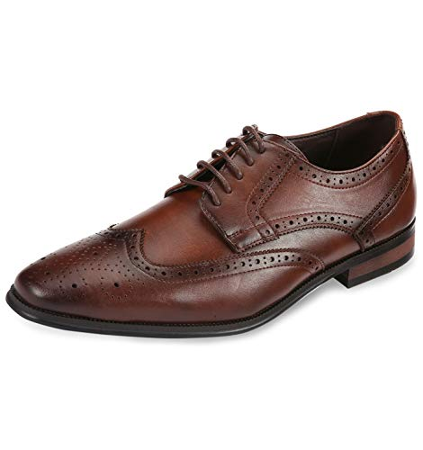 Mio Marino Oxford Men's Dress Shoes (12,Hickory - Wingtip)