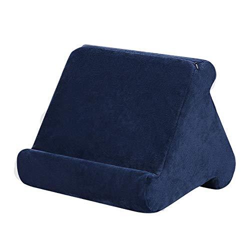 Soporte de Almohada - Soporte de tableta de Almohada Suave de Múltiples ángulos,Almohada para Libros Revistas Teléfonos Inteligentes Lectores de Libros Digitales,Usado en Cama Escritorio Coche (Azul)