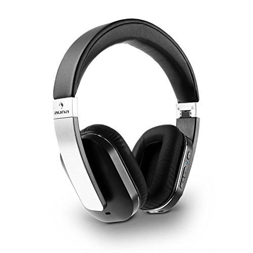 auna Elegance - Bluetooth-Kopfhörer, Bluetooth-Headphones, Wireless-Headphones, Over-Ear-Headphones, Bluetooth 4.0, aptX, Freisprech-Funktion, NFC, 14 h Betriebszeit, faltbar, schwarz