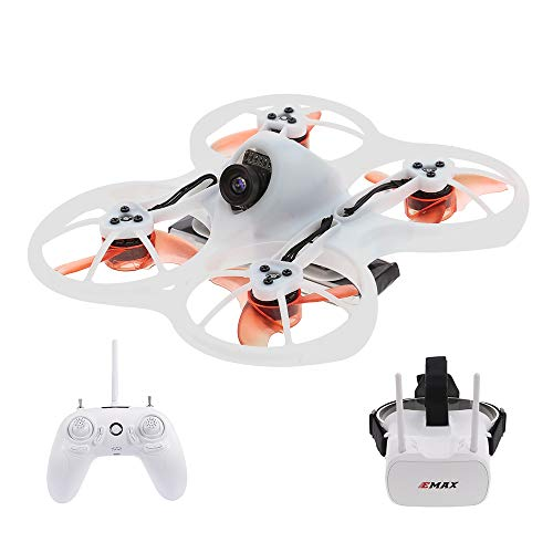 EMAX Tinyhawk RTF RC Racing Drone Brushless 600TVL Camera with Goggles...