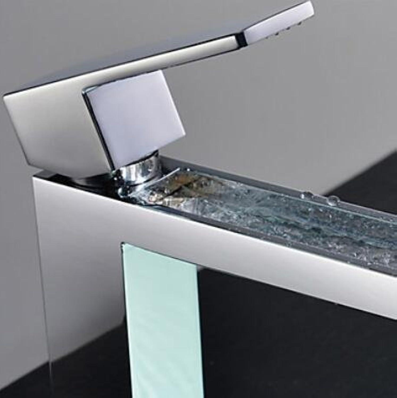 BC Shower Faucet   Bathtub Faucet   Bathroom Sink Faucet - Contemporary - Waterfall - Brass (Chrome)