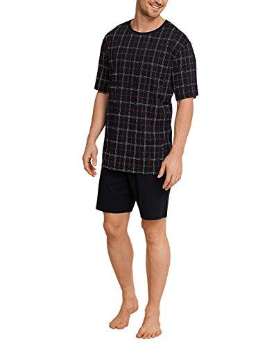 Schiesser Herren Anzug Kurz Zweiteiliger Schlafanzug, Gelb (Whisky 604), Small (Herstellergröße: 048)