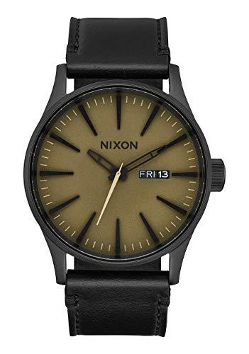 Nixon Unisex Erwachsene Analog Quarz Uhr mit Leder Armband A105-2988-00