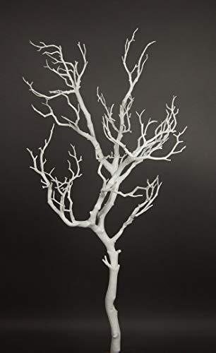 Seidenblumen Roß Großer Dekoast/Dekozweig 95cm weiß YF künstlicher AST Zweig Kunstast Kunststoff