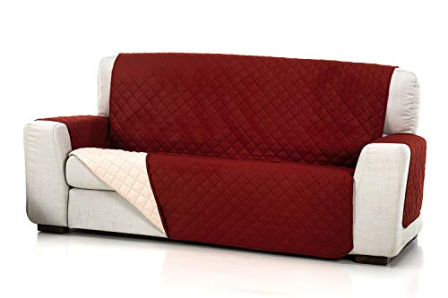 JM Textil Cubre Sofá Acolchado Reversible Alvin, 3 plazas (